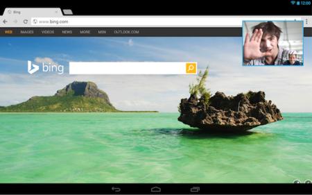 Ejemplo de PiP en Skype for Android 4.5
