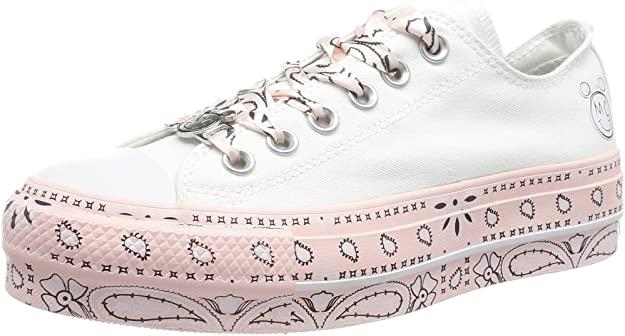 Converse 562236C_37, Zapatillas de Lona Mujer, Blanco, EU