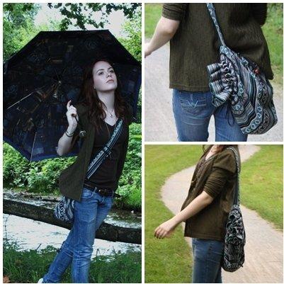 Look calle lluvia paraguas