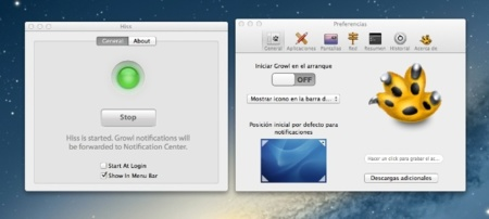 Hiss, envia las notificaciones de Growl al nuevo Centro de Notificaciones de OS X Mountain Lion