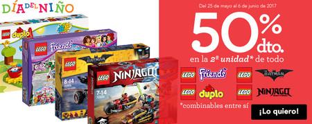 Promoción Toys 'r us: 50% de descuento en la segunda unidad de 127 sets de Lego hasta el 6 de junio