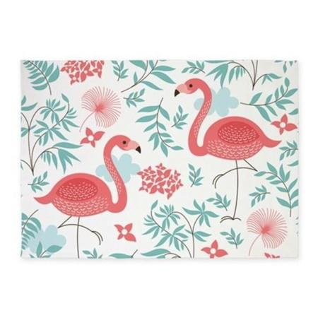 Pink Flamingos 5x7area Rug