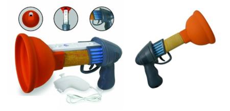 Pistola de Rayman Raving Rabbids para Wii