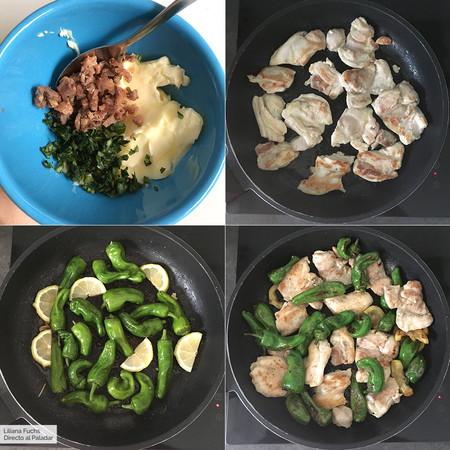 Pasos de la receta