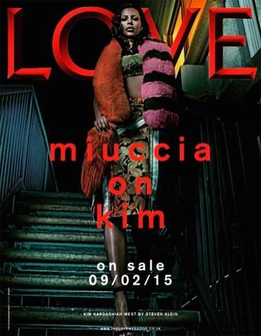 Kim (Kardashian) sigue pisando fuerte, ahora para Love Magazine