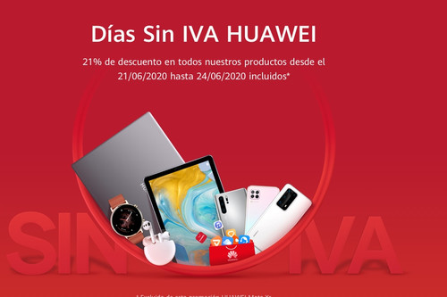 Días Sin IVA Huawei: smartphones, portátiles, relojes inteligentes y tabletas más baratas