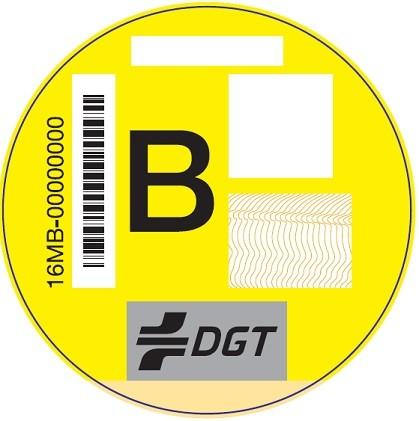 Etiqueta Dgt B