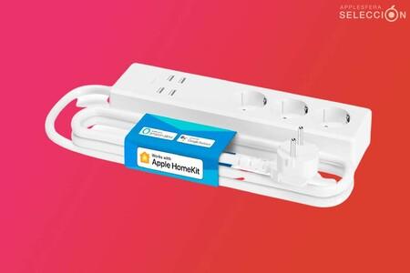 Esta regleta con tres enchufes y USB de Refoss es compatible con HomeKit y está rebajada a 28,99 euros en Amazon, su precio mínimo