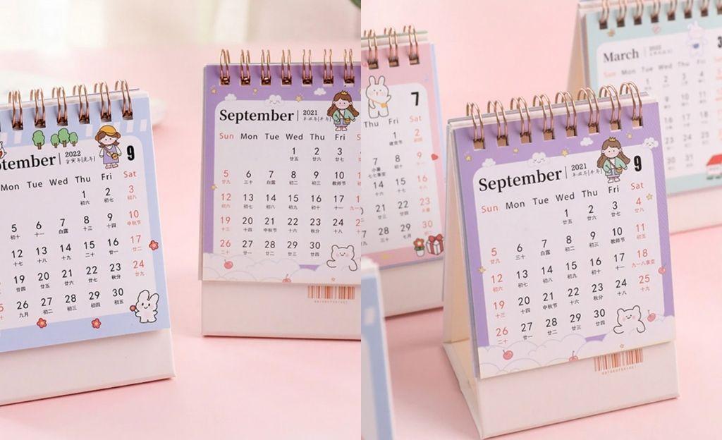 Calendario de escritorio 2022 de la serie Simple