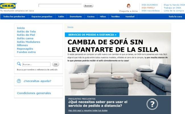Comprar sofa online en Ikea