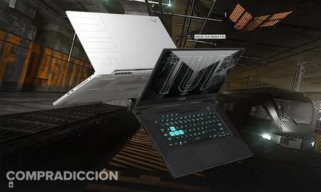 Este portátil gaming con gráfica RTX3060 sigue bajando en PcComponentes: ASUS TUF Dash F15 FX516PM-HN024 por 1.099,99 euros