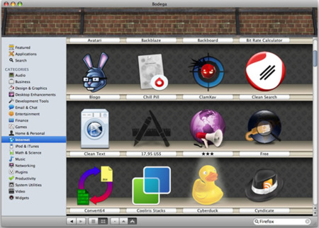 Bodega, barra libre de aplicaciones para Mac OS X