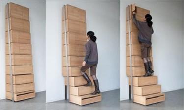 Una buena idea: cajonera y escalera