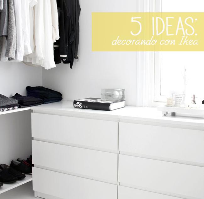 Ikea en nuestras casas 5 ideas que no puedes perderte - Comoda malm 4 cajones ...