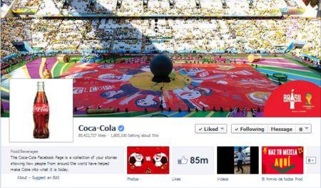 Una De Las Paginas Mas Populares De Facebook Coca Cola