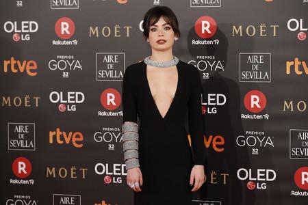 Premios Goya 2018: Anna Castillo combina el eterno negro con la tendencia bling bling