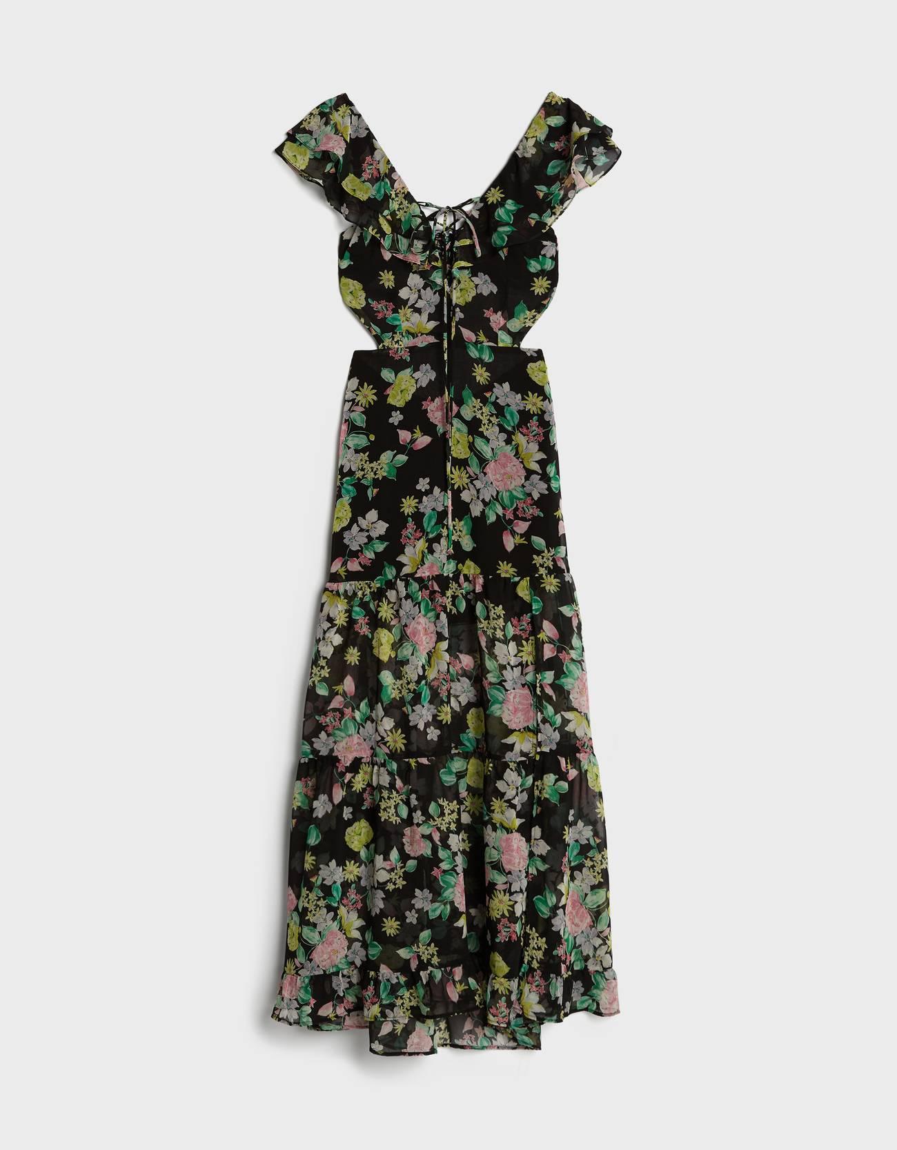 Vestido con print floral y espalda cut out