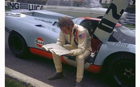 Steve McQueen durante el rodaje de Le Mans