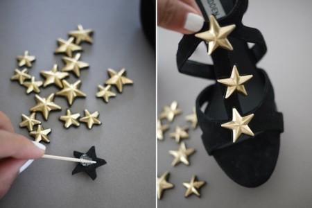 estrellas pegandose zapatos