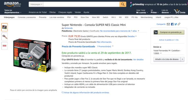 Snes Mini Classic En Amazon