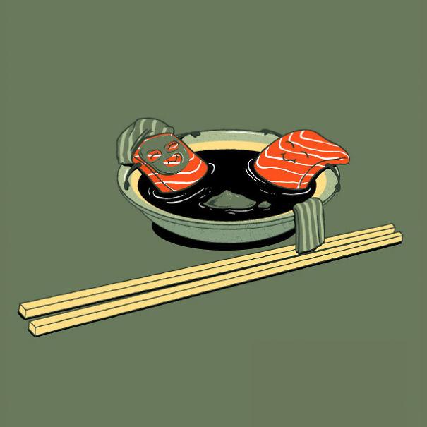 Foto de Caricaturas con comida (6/15)