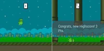 Un clon de Flappy Bird, el primer juego para Android Wear