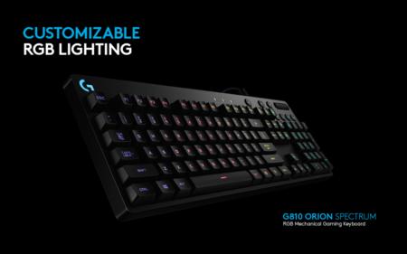 Logitech mejora su apuesta en teclados mecánicos con G810 Orion Spectrum RGB