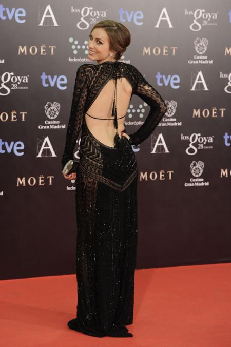 Premios Goya 2014 vestidos con escotes en la espalda. Kira Miró de Roberto Cavalli