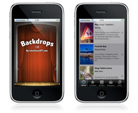 Backdrops, la aplicación para iPhone e iPod touch con fondos de InterfaceLIFT