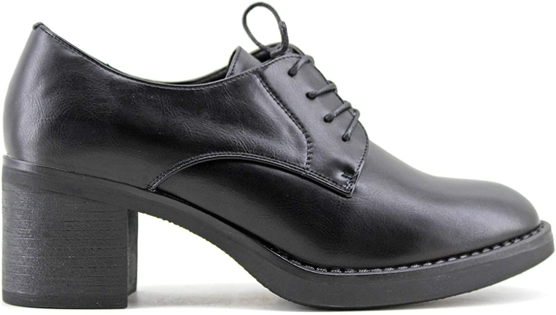 Modelisa - Zapatos Blucher Tacon Ancho Mujer
