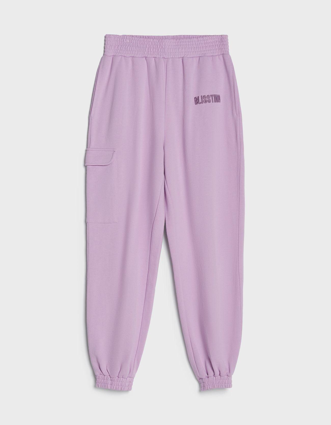 Pantalón tipo jogger en violeta.
