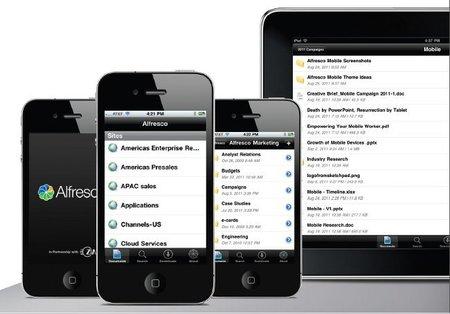 Alfresco se vuelve móvil con aplicaciones para iOS