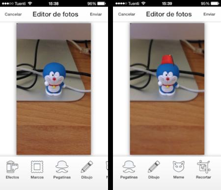 inbox editor imágenes chat mensajería instantánea iphone