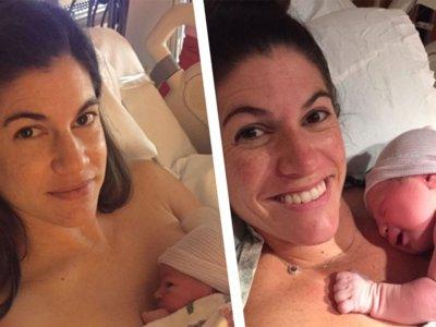 Estas gemelas idénticas dieron a luz a sus bebés el mismo día ¡y a la misma hora!