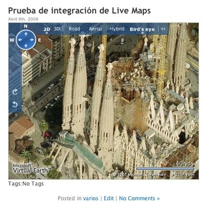 Plugin para integrar Windows Live Maps con Wordpress