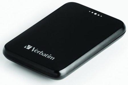 Disco externo Verbatim de 250 GB y 1.8 pulgadas
