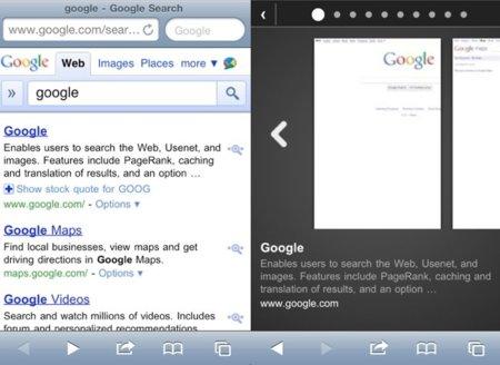 Google Instant Preview, las vistas previas de resultados de búsqueda llegan al iPhone