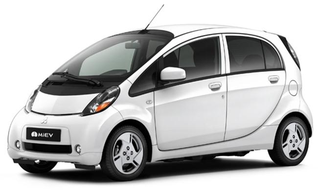 Mitsubishi i-MiEV blanco