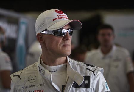 Michael Schumacher no encuentra su sonrisa