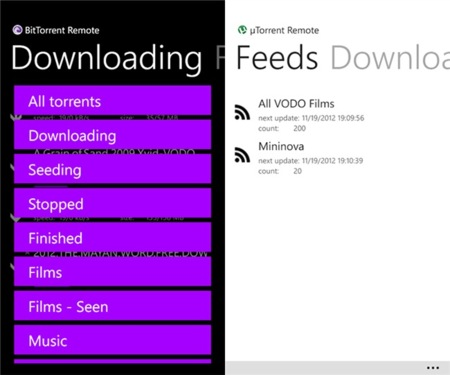 Torrent Remote para Windows Phone