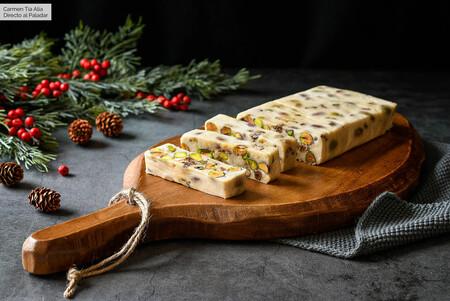 Turrón de queso camembert y frutos secos