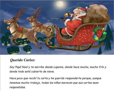 Haz tu propia carta personalizada para que Papá Noel responda a los niños