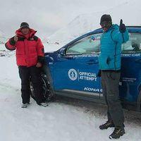 Hyundai Kona Electric se pasea como si nada a 5,731 metros de altitud y obtiene un récord por su proeza