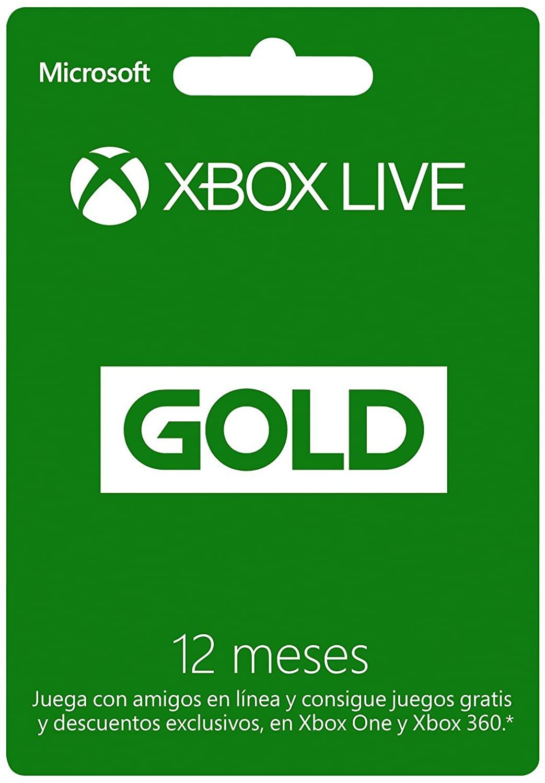 Tarjeta Xbox Live Gold de 12 meses