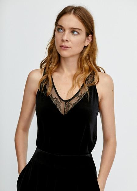 Camisa Mango Negro 2018 05