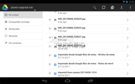 Google Drive para tablets Android