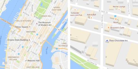 Google Maps experimenta un lavado de cara: así es el nuevo diseño