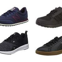 Chollos en tallas sueltas de zapatillas oscuras de marcas como Puma, New Balance o Adidas en Amazon