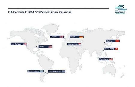 La FIA revela el calendario provisional de carreras de la Fórmula E