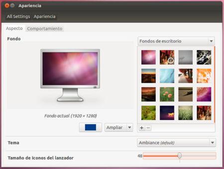 Ubuntu 12.04 Beta 1, apariencia